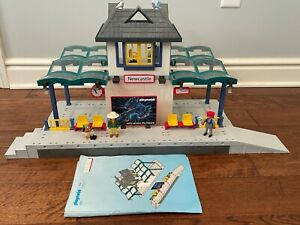 Vintage Playmobil 4302 Train Station Railroad 100% Complete w/ Instructions