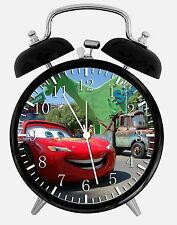 "Disney Cars Mcqueen Alarm Desk Clock 3.75"" Room Decor X25 Nice for Gifts"