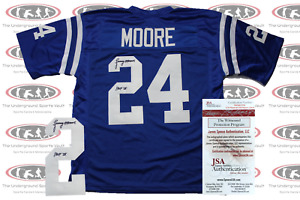 Lenny Moore Signed Indianapolis Pro Style Jersey JSA