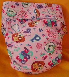 Adult New Reusable Super Absorbent Cloth Diaper S,M,L,XL Paw Patrol Girls