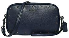 NWT $225 COACH 38931 SADIE CRYSTAL RIVETS CROSSBODY CLUTCH Cadet blue