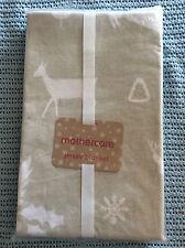 mothercare jersey blanket xmas theme 100% cotton 70x90cm bnwt