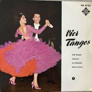 BELA SANDERS: Vier Tangos - Folge 1 (EP Telefunken UX 4722 / Mono)