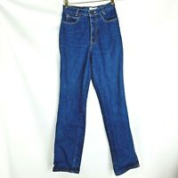 Calvin Klein womens vintage blue jeans pants size 7 100%  cotton straight