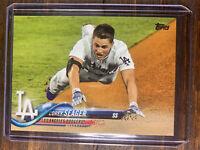 2018 TOPPS BASEBALL CARD #550 - COREY SEAGER - LOS ANGELES DODGERS MLB WS MVP