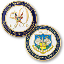 NORAD / North American Aerospace Defense Command 50th Anniversary Challenge Coin