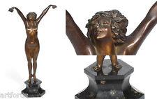 CLAIRE JEANNE ROBERT COLINET. ANDALUZA Escultura bronce patinada  1920 Firmada