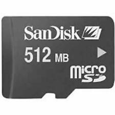MICRO SD SanDisk 512MB memoria automazioni e/o MP3 MP4 x smartphone Samsung MP3