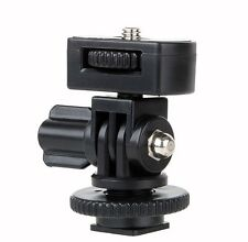 "Adjustable angle pole 1/4"" Screw Hot shoe mount adapter for camera LED light"