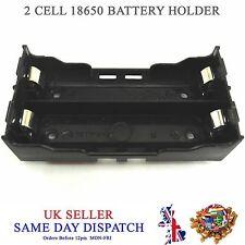 Hazlo tú mismo 2 celdas 18650 Li-Po Batería Soporte de plástico 3.7V Estuche de montaje de PCB 3.6V Caja