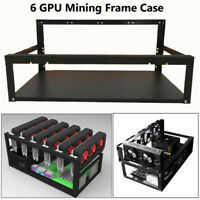 1x 6/8 GPU Open Air Mining Rig Frame Case Computer Crypto Coin For ETH Ethereum