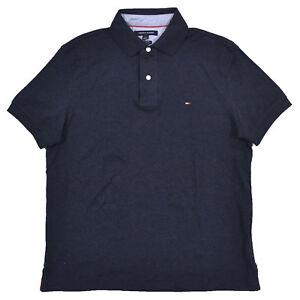 Tommy Hilfiger Mens Polo Shirt Interlock Custom Fit Casual Top Flag Logo New Nwt