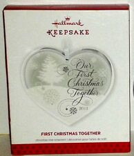 Hallmark Keepsake 2013 FIRST CHRISTMAS TOGETHER Glass Ornament NIB