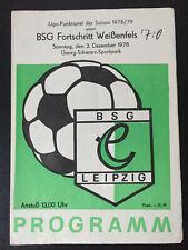 Programm DDR Bezirksliga 1985//86 Motor Finsterwalde Turbine Vetschau