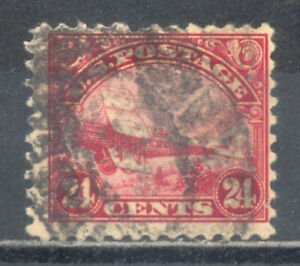 US Stamp (L265) Scott# C6, Used LH, Faults, Air Mail