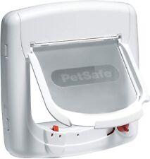 PetSafe Staywell Magnetic 4 Way Locking Deluxe Cat Flap White - Cat Door 400EF
