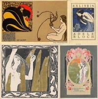 161 RARE VINTAGE ART WORK IMAGES OF KOLOMAN MOSER NOUVEAU DECORATIVE ARTS ON DVD
