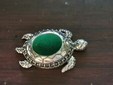 More details for vintage sterling silver turtle pin cushion
