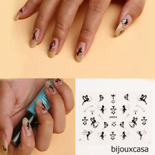 Hot Popular Girls Nail Art Sticker Silver Crystal TinkerBell Fairy Angle  BJC