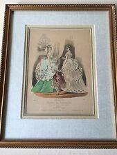 Vintage Modes de paris Journal des Demoiselles, Et Petit Courrier Etching Print