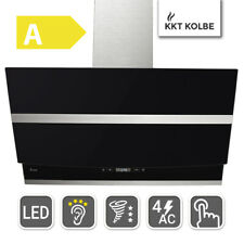 cooker hood extractor hood 90cm black Design SensorTouch Power LED