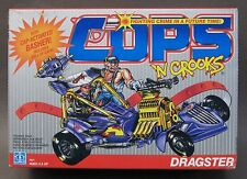 1989 Hasbro COPS & CROOKS DRAGSTER w/cap activated basher MINT unused w/box