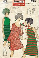 """1960s Vintage Sewing Pattern B34"""" DRESS (1862) Barbara Hulanicki (Biba)"""