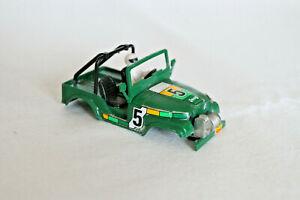 STS Scalextric slot car 4x4 body Jeep CJ-5 #5 green - MINT
