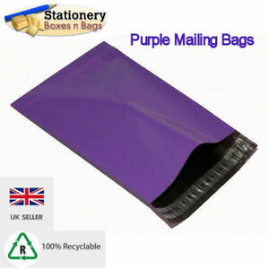 """STRONG PURPLE Mailing Bags 4.5"""" x 6.5"""" - 120x170mm Postal Packaging Choose QTY"""