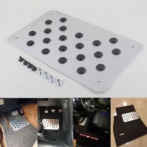 Aluminium Alloy Non-slip Car Interior Foot Pedal Heel Plate Floor Pad 28*16cm