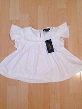 Ralph Lauren Girl's White Ruffled Top Shirt For 5 Years BNWT