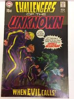 Challengers of the Unknown #71 Comic Book DC 1970