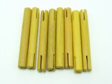 Tinkertoy 8 Yellow Rods Replacement Parts 3 inch Wooden Tinker Toy Pieces Sticks