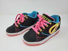 Heelys Propel 2.0 Wheel Skating Shoes Children's Girl's Black Neon Pink Yth Sz 2
