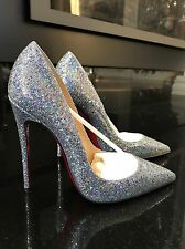 NIB Christian Louboutin So Kate Disco Ball Silver Stiletto Pump  $695 Sz 35.5