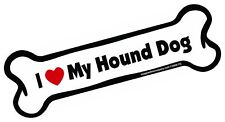 Imagine This Bone Car Magnet, I Love My Hound Dog, 2-Inch by 7-Inch
