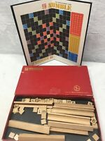 Vintage 1968 Numble Cross-Number Game Board Game Complete Red Box