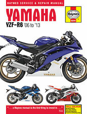 5544 Haynes Yamaha YZF-R6 2006 - 2013 Workshop Manual