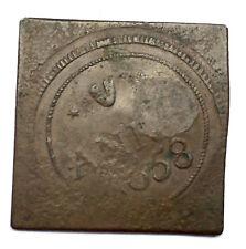 GERMANY STADT HILDESHEIM GRAIN TOKEN 1658 COUNTER STAMP KLIPPE