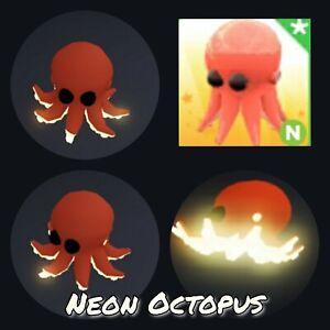 Neon Octopus - virtual legendary ocean pet in the game Adopt me! in Roblox