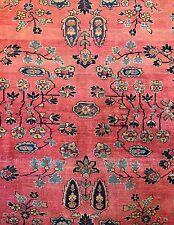 Gorgeous Ghazan - 1920s Antique Sarouk Rug - Persian Lilihan - 9.2 x 11.5 ft.