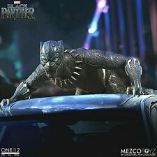 """Mezco One:12 Collective Marvel Comics Black Panther 1/12 Scale 6"""" Figure In Hand"""