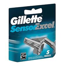 Gillette Sensor Excel Men's Replacement Razor Blade Refills Long Lasting, 5 Pack