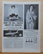 1960 magazine ad for Fashion Quik Name The Doll Contest - photo of doll, prizes