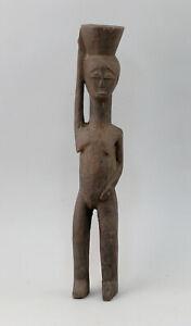 99839106 Alte Afrikanische Figur Holz  weibliche Figur H32cm