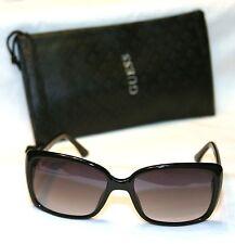 Authentic GUESS GU7336-BLK-35 Women's Square Sunglasses Gradient BLACK NEW!