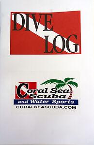 Dive Log Book Scuba Diving Flag 60 Pages Record Book
