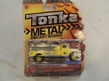 TONKA METAL DIECAST VINTAGE FIRE DEFENSE FIRST RESPONDERS FIRE ENGINE YELLOW # 5