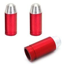 3 Red Billet Bullet Tire Air Valve Stem Dust Caps Trike ATV Bike Wheels