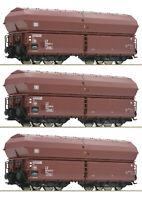 """Roco H0 76079 Klappdeckelwagen-Set der DB """"Neuheit 2019"""" - NEU + OVP"""